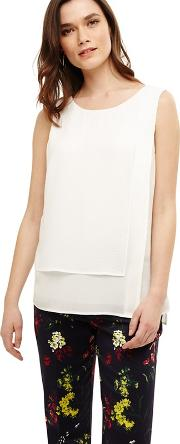 White Lillie Layered Blouse