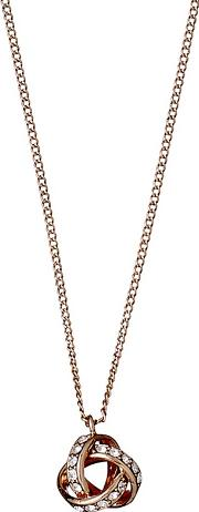 Rose Gold Plated katelyn Crystal Pendant Necklace