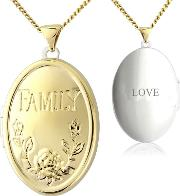 9ct Gold And Silver Family Locket With love
