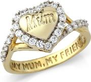Silver 9ct Gold Plate Mum Ring
