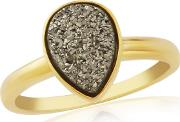 Sterling Silver 9ct Gold Plated Drusy Ring