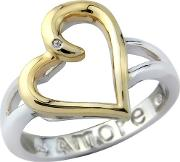 Sterling Silver And Yellow Rhodium Message Ring