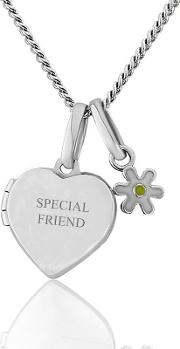 Sterling Silver Childrens Locket With Daisy Charm 'special Friend'