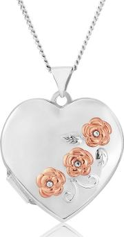 Sterling Silver Ladies Heart Locket