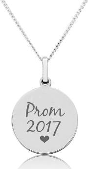 Sterling Silver Prom Celebration Pendant. prom 2017