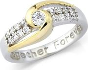 Sterling Silver together Forever Ladies Dress Ring