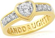 Sterling Silver & Yellow Gold Plated 'grandaughter' Ring
