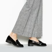Black Patent reed Low Heel Wide Fit Loafers