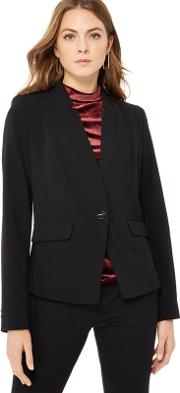 Black Single Breasted Suit Jacket