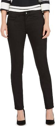 Black Mid Waisted Slim Jeans