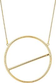 Circle Bar Graphic Necklace
