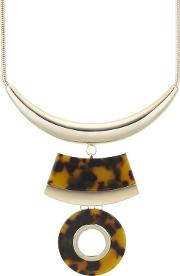 Designer Tortoise Shell Effect Circle Necklace