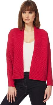 Pink Textured Edge To Edge Cardigan