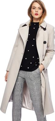 Ivory Fit And Flare Coat
