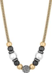 Multi Tone Crystal Orb Charm Necklace