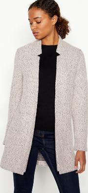 Pale Pink Boucle Knit anna Coatigan
