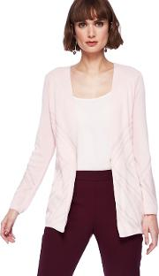 Pale Pink Edge To Edge Cardigan