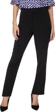 Black Tapered Leg Suit Trousers