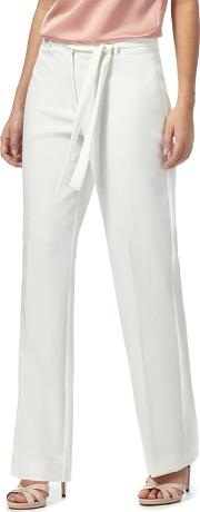 Ivory High Waisted Petite Trousers