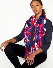 Red Floral Print Scarf