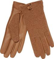 Tan Leather Palm Gloves