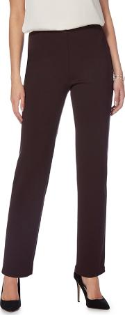 The Collection Dark Brown Regular Length Ponte Trousers