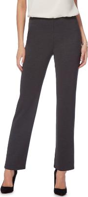 The Collection Grey Regular Length Ponte Trousers