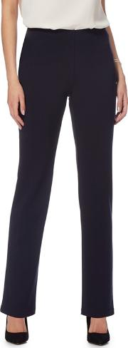 The Collection Navy Regular Length Ponte Trousers