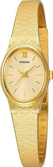 Ladies Gold Coloured Oval Dial Bracelet Watch Pk3032x1