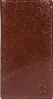 Brown finisbury Fine Cowhide Leather Rfid Tall Wallet