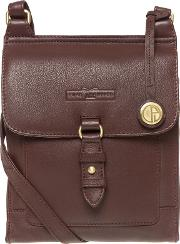 Brown maine Soft Cowhide Leather Small Cross Body Bag