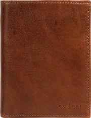 Cognac roberto Handmade Veg Tanned Italian Leather Wallet