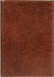 Cognac stefano Handmade Veg Tanned Italian Leather Wallet