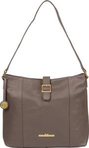 Grey elaine Quality Leather Tote Bag