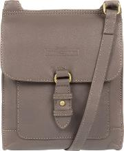 Grey maine Soft Cowhide Leather Small Cross Body Bag