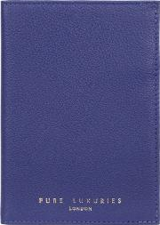 Navy Blue jet Handcrafted Leather Passport Holder