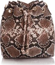 Snake Print Mini Cross Body Bag