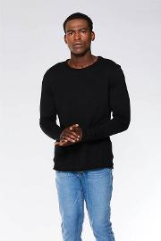Black Long Sleeves Muscle Fit T Shirt