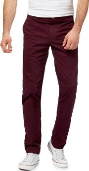 Big And Tall Dark Red Chino Trousers