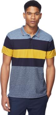 Big And Tall Mustard Yellow Grindle Striped Polo Shirt