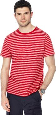 Big And Tall Red Striped T Shirt