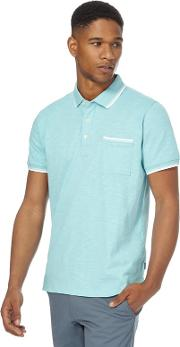 Big And Tall Turquoise Tipped Polo Shirt