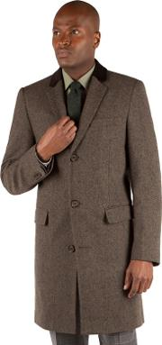 Brown Donegal Overcoat