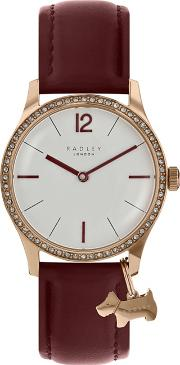 Ladies Red millbank Watch Ry2516