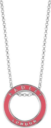 Pink And Silver esher Street Ring Pendant Necklace