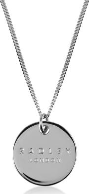 Silver broad Street Disc Pendant Necklace