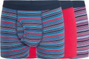 3 Pack Pink Stripe Print Keyhole Trunks