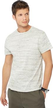 Big And Tall Grey Space Dye Slim Fit T Shirt