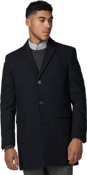 Blue Melange Overcoat