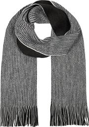 Dark Grey Reversible Twist Knit Scarf